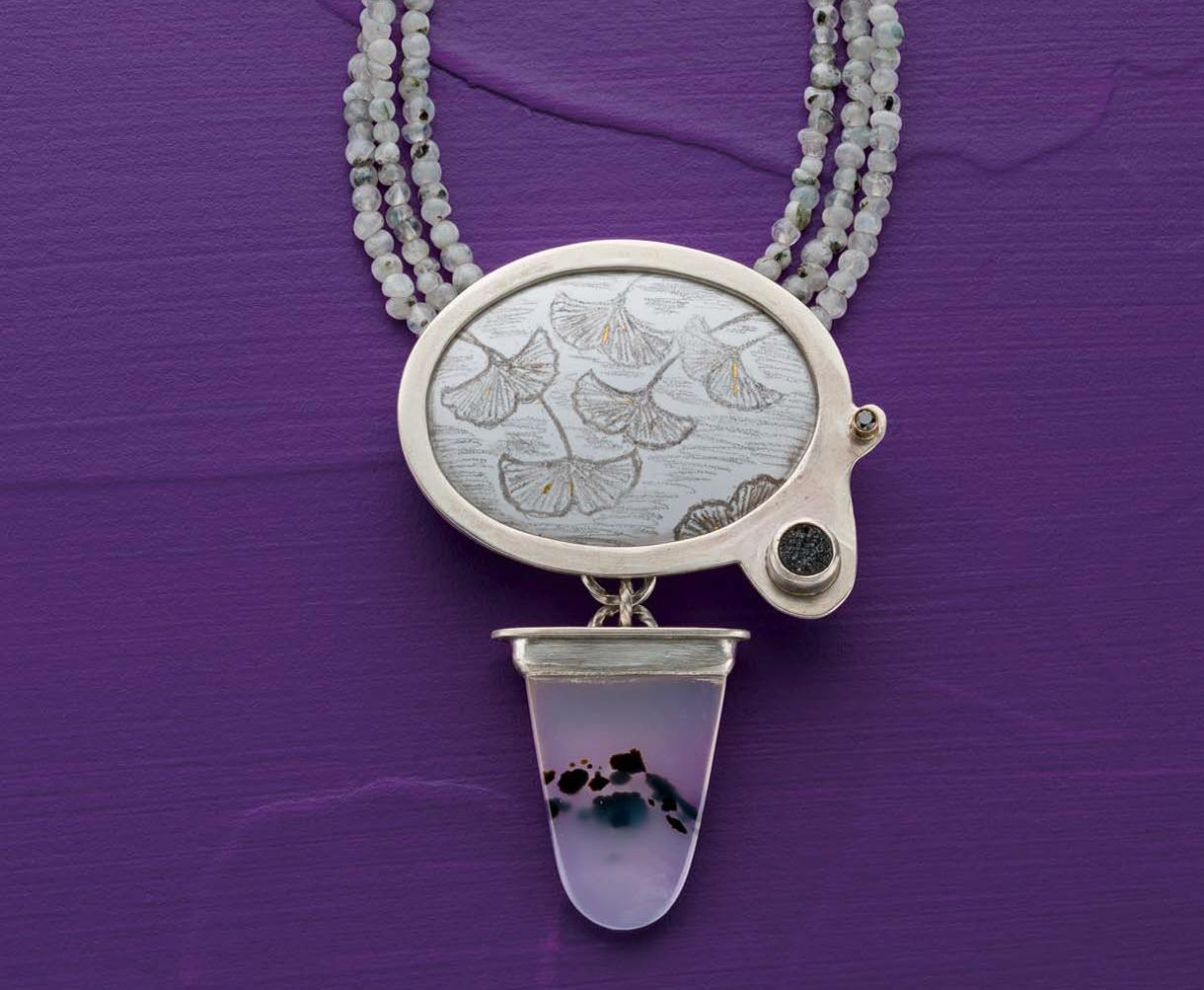Lara Ginzburg enamel jewelry necklace
