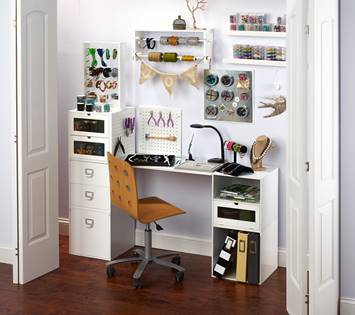 Even a closet can be a jewelry workspace!