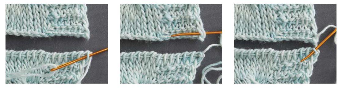 grafting Tunisian garter stitch crochet