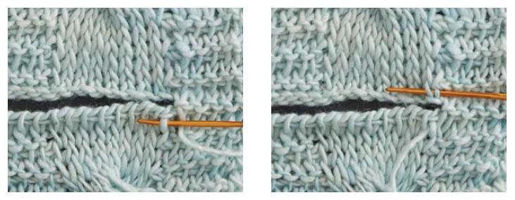 grafting Tunisian knit stitch crochet