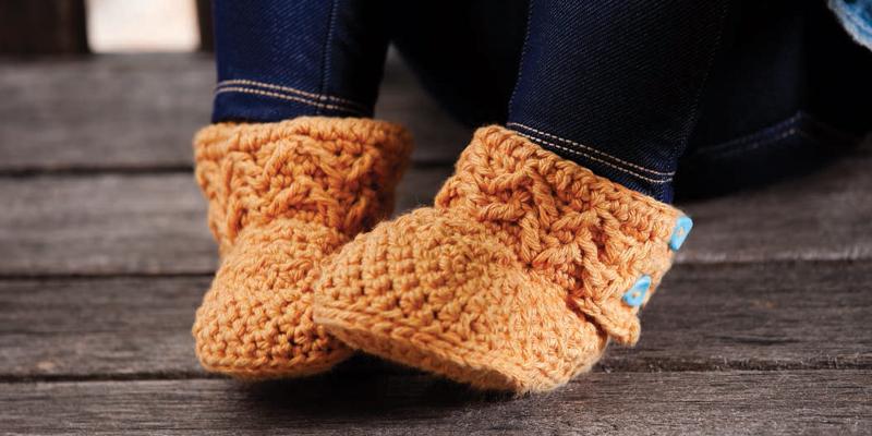Grandma's Easy, 10-Step Baby Crochet Booties