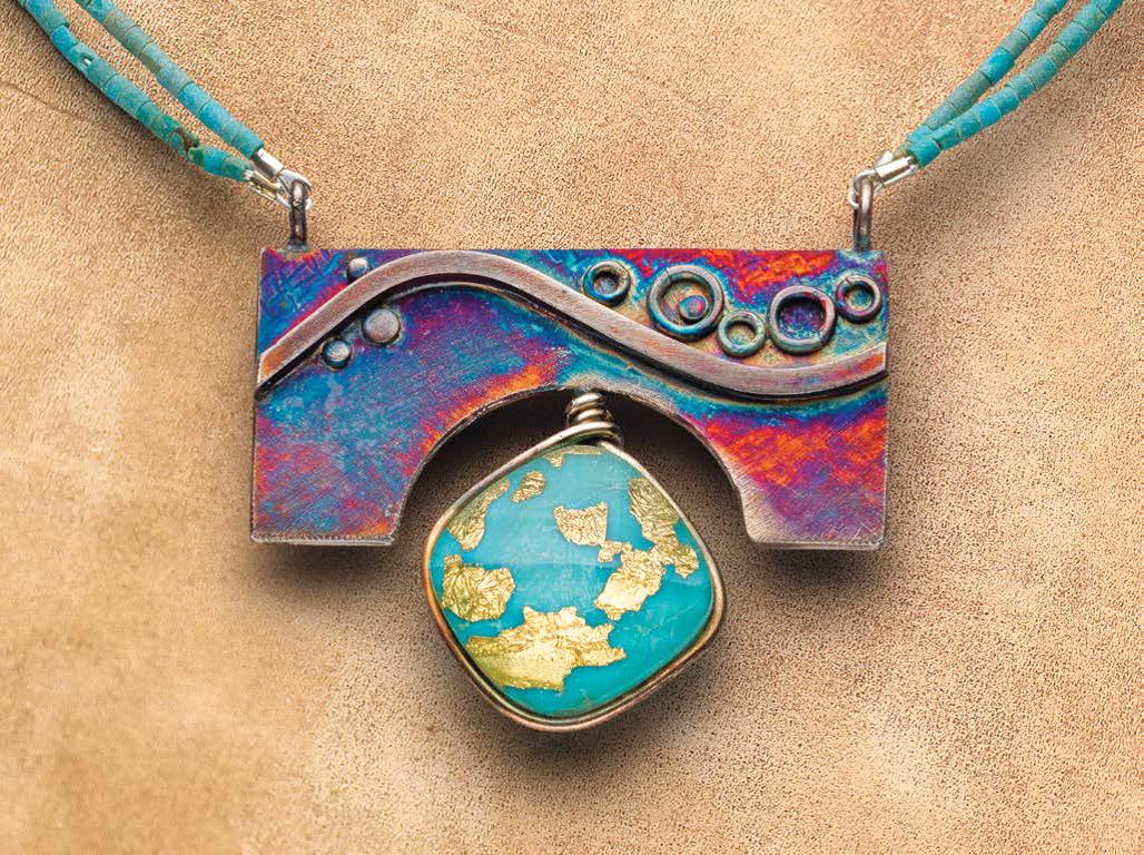 handmade jewelry gifts: Kieu Pham Gray's Turquoise Surprise pendant. Photo: Jim Lawson