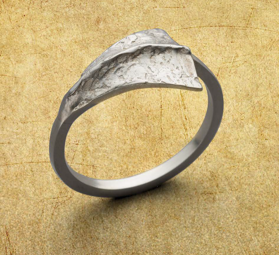 Amanda Hagerman created this understated silver ring using Argentium. The project, Flare for Your Finger, originally appeared in Lapidary Journal Jewelry Artist January/February 2018 and is now also available in the compilation 10 Sensational Silver Jewelry Making Projects Using Low-Tarnish Argentium® or Traditional Sterling. Photo: Jim Lawson