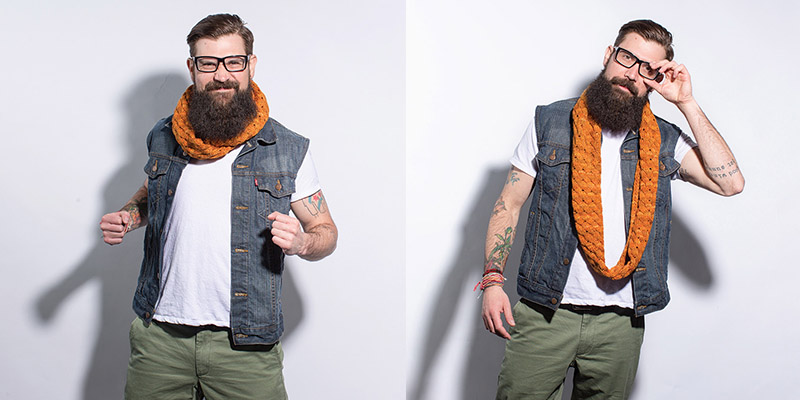 Orange You Excited to Knit the Happy Jack Cowl?!