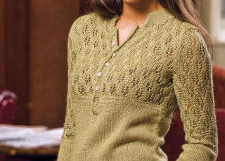 Learn how to knit this free knitting lace pattern called the Henley Perfected.