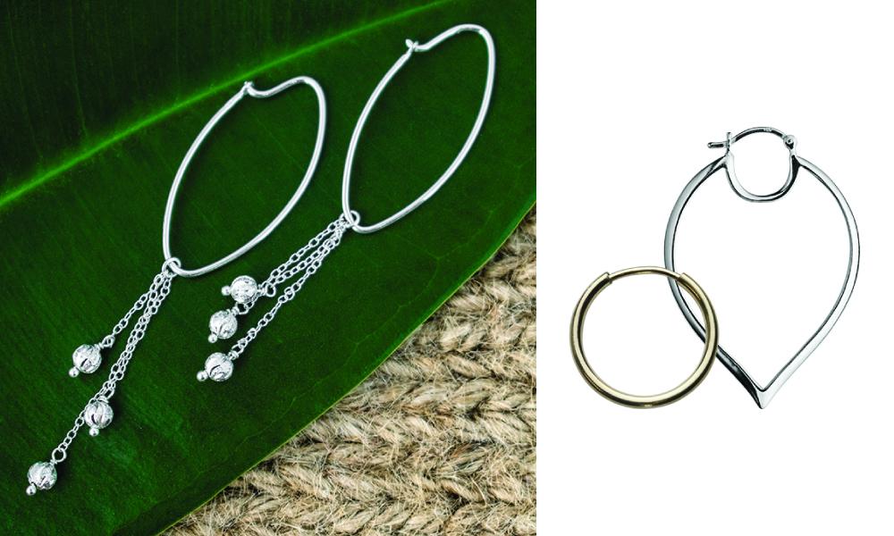 perk up hoop earrings with tassels
