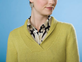 Learn how to knit a sweater that fits, such as this knitted sweater from Knitscene, Fall 2011.