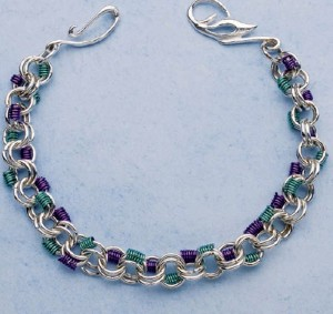 Learn how to make this amazing chain maille bracelet in this FREE ebook that includes 4 chain maille jewelry projects.