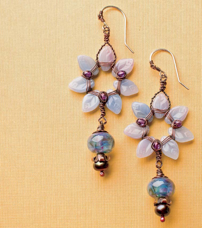 Learn how to make drop earrings for summer jewelry in this FREE eBook.