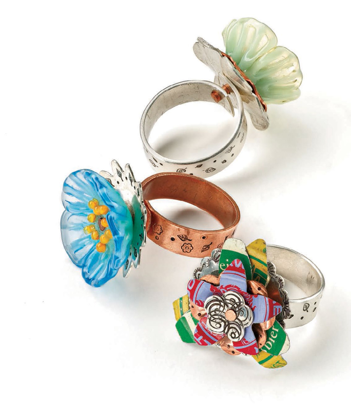 Learn how to metal stamp jewelry, such as rings, in this FREE eBook