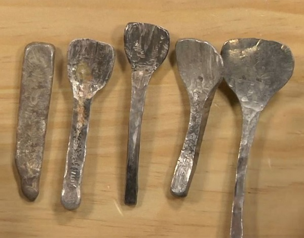 forging metal and making silver spoons
