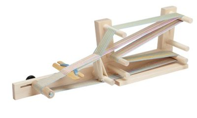 Example of an inkle loom—one out of many different types of weaving looms out there!