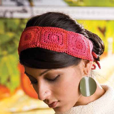 You'll love this crocheted headband pattern found in our free eBook on how to make a granny square and patterns.