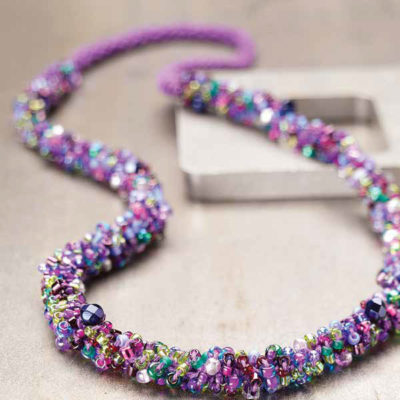 Wire & Bead Crochet Jewelry Patterns: Free Crochet Necklace, Bracelet, & Earring Designs