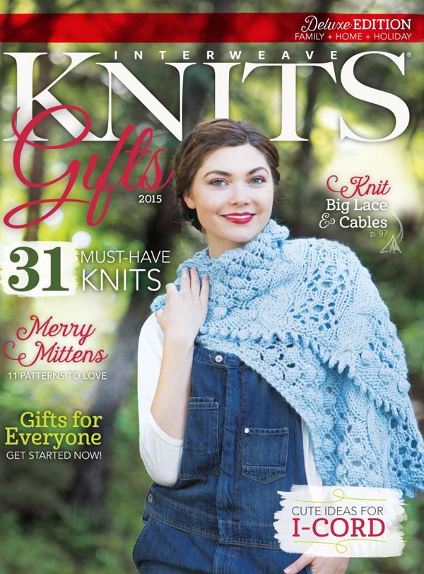 Knitting gift ideas to make or give from Interweave Knits 2015 wintery collection.