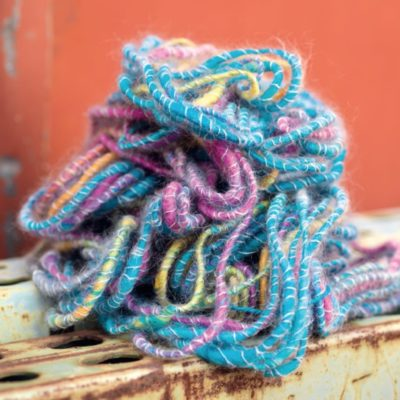 Tips and techniques for creating art yarn.