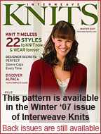 Interweave Knits Winter 07
