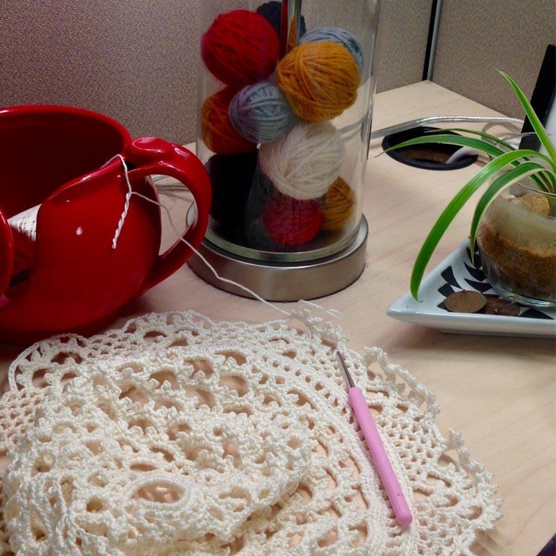 Jardin Hat from Interweave Crochet Summer 2017 - Close Up