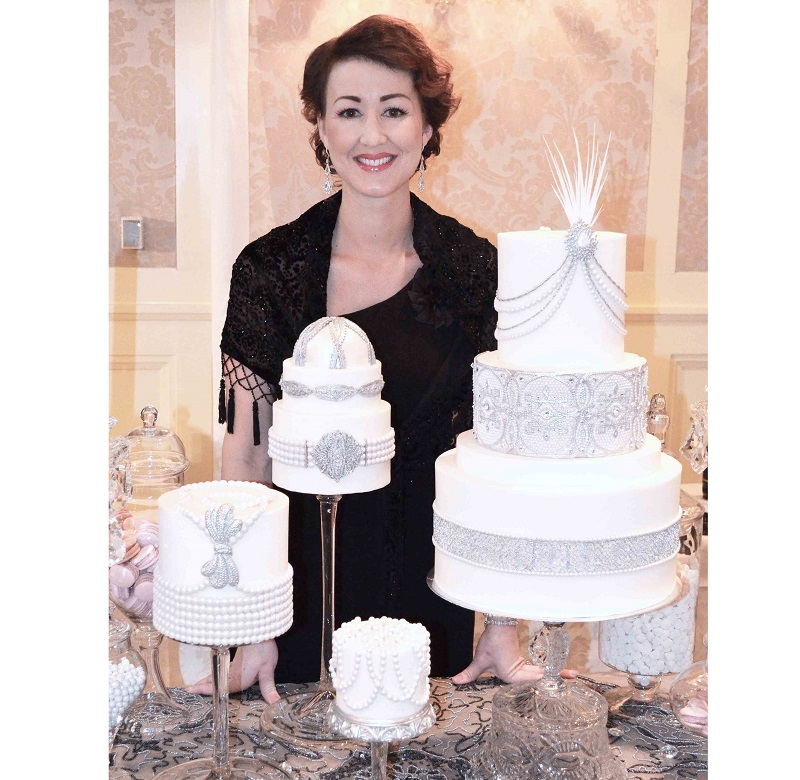 Heather Tocco's jeweled wedding cakes from The Home Bakery in Rochester, Michigan