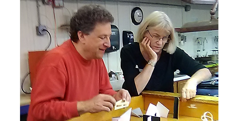 jewelry artist Betsy Lehndorff and Don Friedlich.