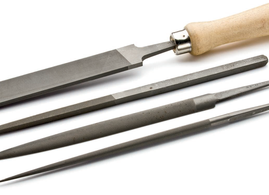 You can use coarser metalsmithing files to carve wax, but don't use the same files on wax and metal; photo: Jim Lawson