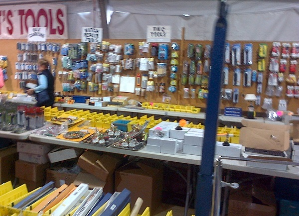 jewelry-making supplies and tools for sale at Tucson gem shows