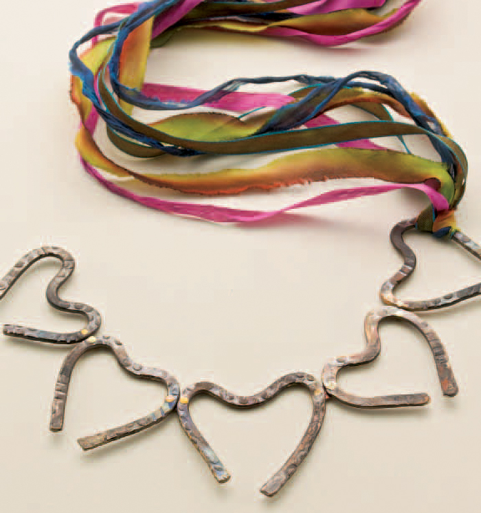 Free rivet jewelry project in our free cold connection jewelry eBook.