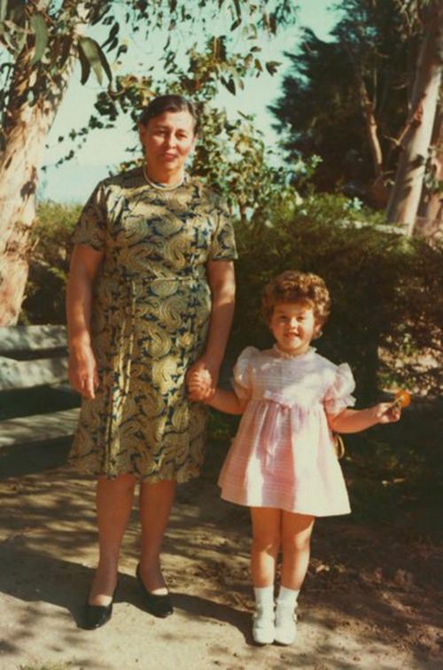 Julianna Avelar with her grandmother