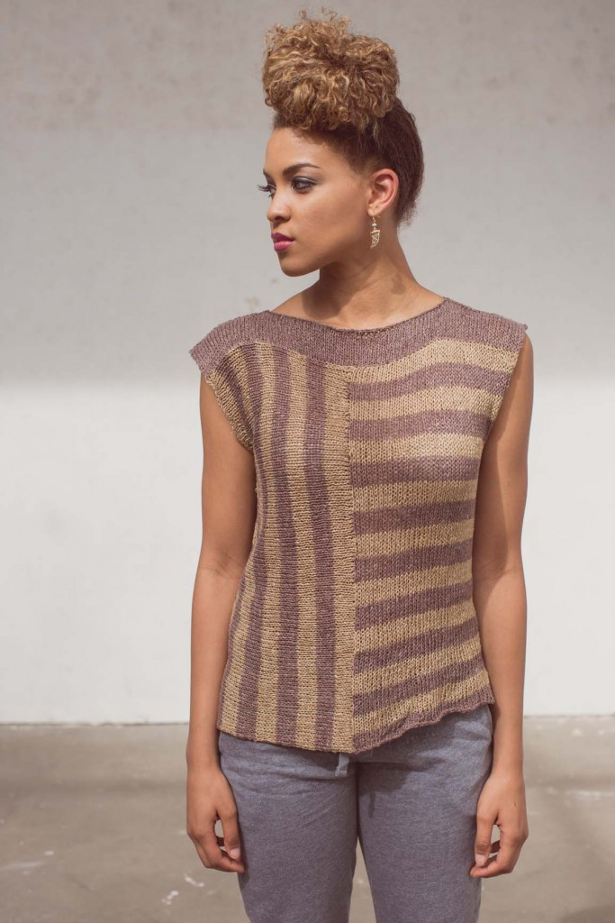 The Sissone Knit Tee is stripey goodness for summer knitting!