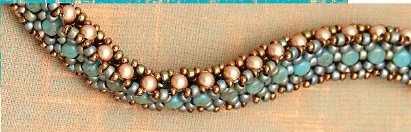 Bead Metamorphosis, Encanto Neckalcey by Lisa Kan, hidden clasp inside beadwork
