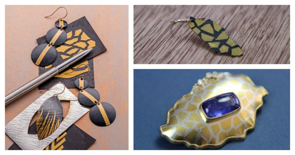 ABOVE: Keum boo jewelry techniques allow you to add delicate gold foil to your pieces without investing a fortune.