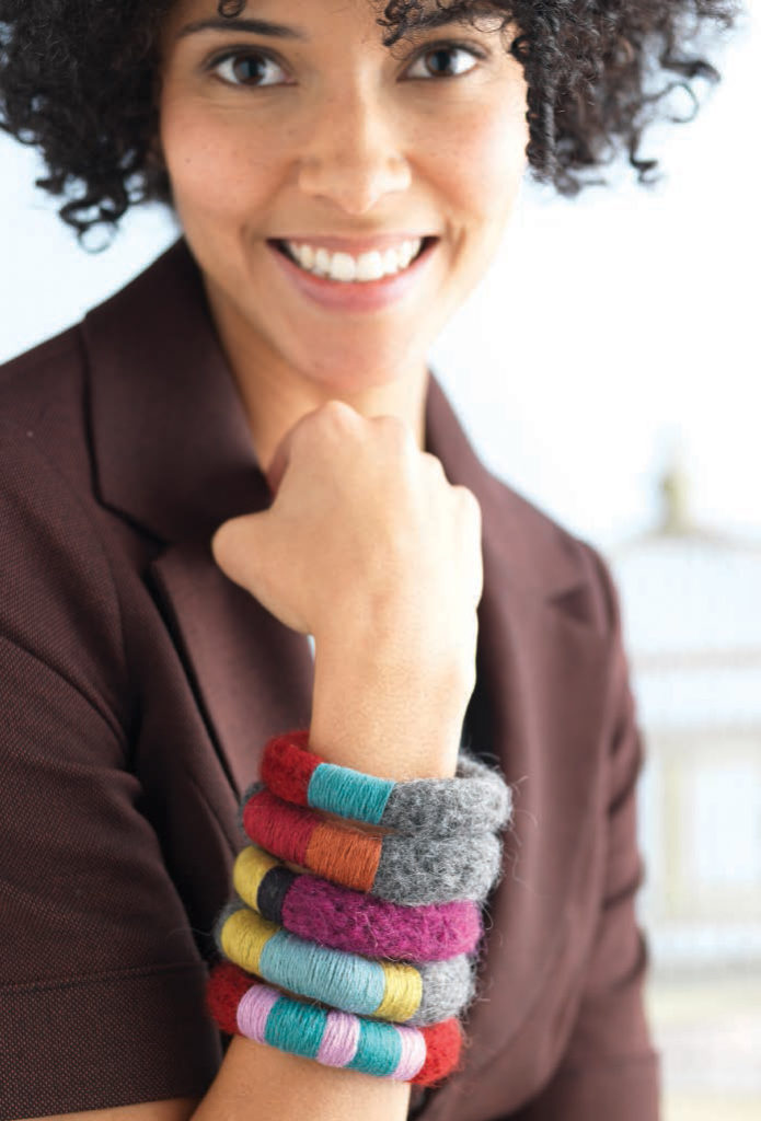 You'll love knitting these knitted bangles found in our free eBook that contains 7 knitting patterns for knitted accessories.
