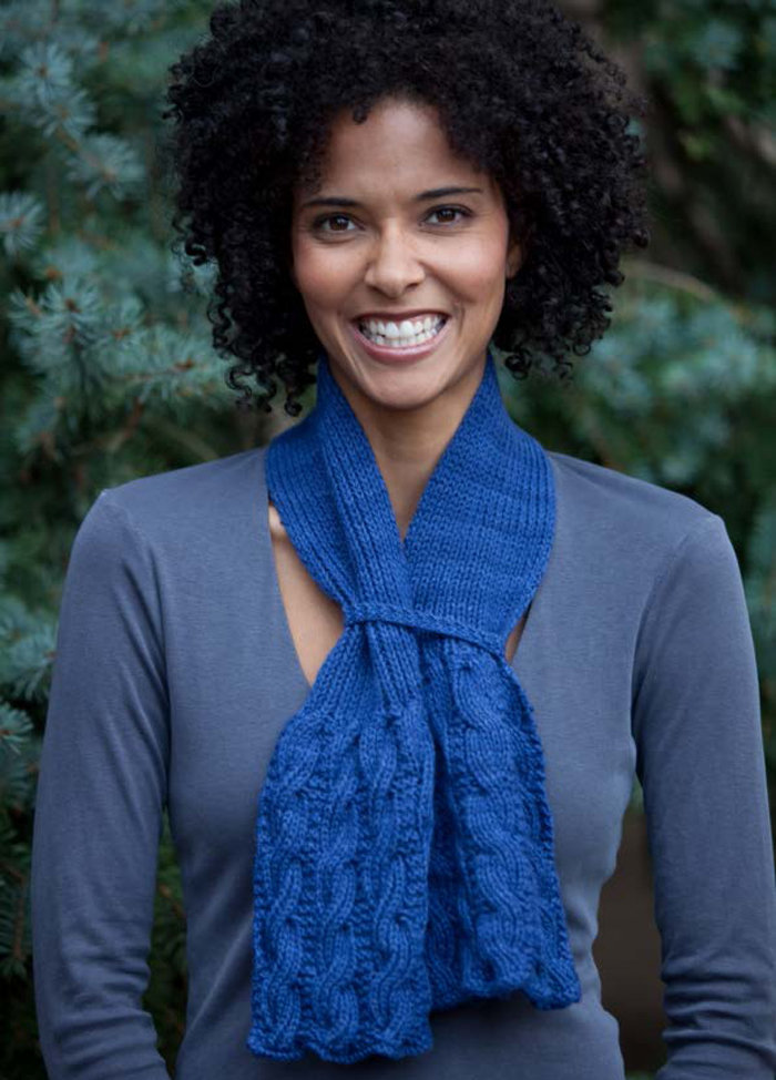 b001c53ff5d5c2 Learn how to knit cables with this FREE cable scarf pattern  Rittenhouse  Scarf.