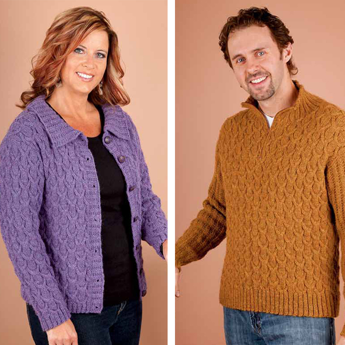 ec7f560dbaf1b5 How to knit cabled sweaters in this free cable knitting ebook.