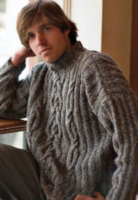 9ad6b837675e6 Learn how to knit this men s cable knit sweater part of this FREE eBook  that includes