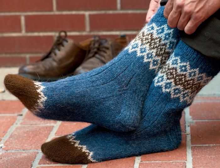 Border Socks Free Sock Knitting Patterns
