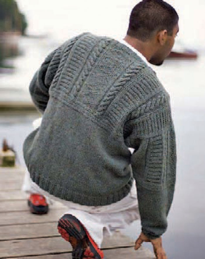 Every guy will love this knitted sweater, so learn how to knit it in this free knitting patterns for men eBook.