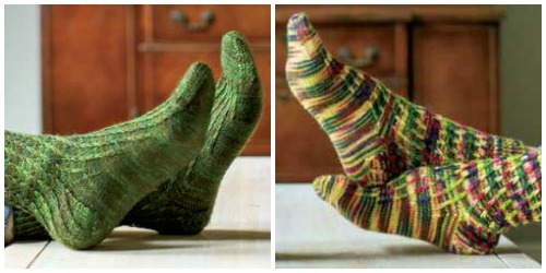 Chains sock knitting pattern