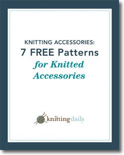 You'll love these 7 free patterns for knitted accessories in this free ebook.