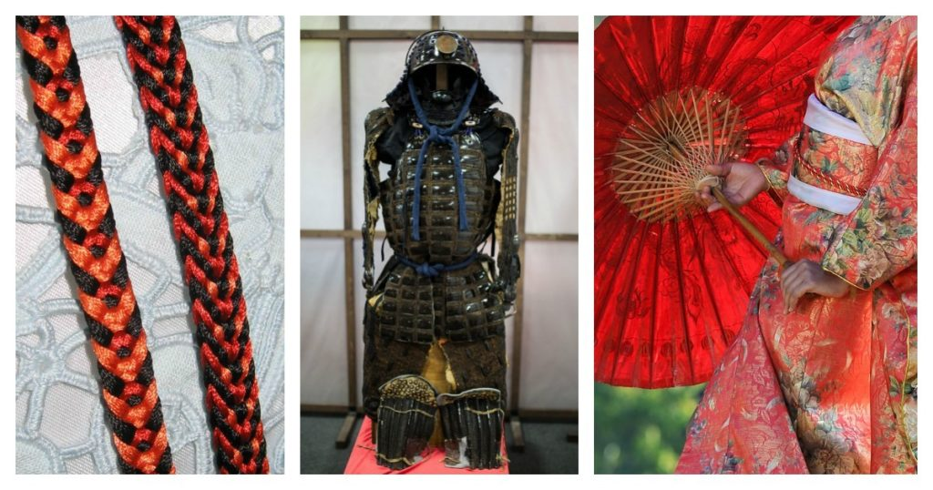 Kumihimo has a rich though under-documented history, including lacing together samurai armor and binding kimonos.