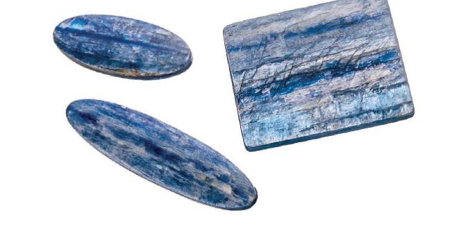 Cut kyanite gemstones courtesy Barlows Gems; photo: Jim Lawson