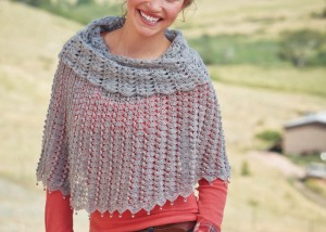 The Lady Blue Warmer is a free crochet poncho pattern in our free eBook.