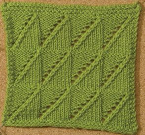 Learn about this wedges knitting stitch by Melissa J. Goodale called Lace Wedges stitch in this free eBook on nine amazing knitting stitches.