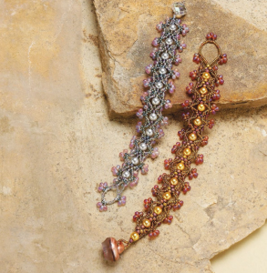 """Learn how to make beaded bracelets with this free beaded bracelet pattern titled, """"Chance for Romance"""" by Melissa Grakowsky Shippee."""