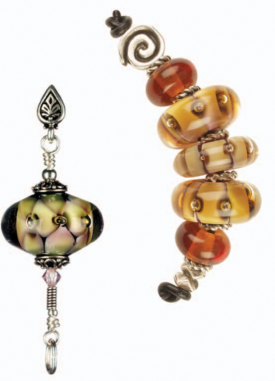 Learn how to make lampwork beads in this FREE eBook on glass beads and more.