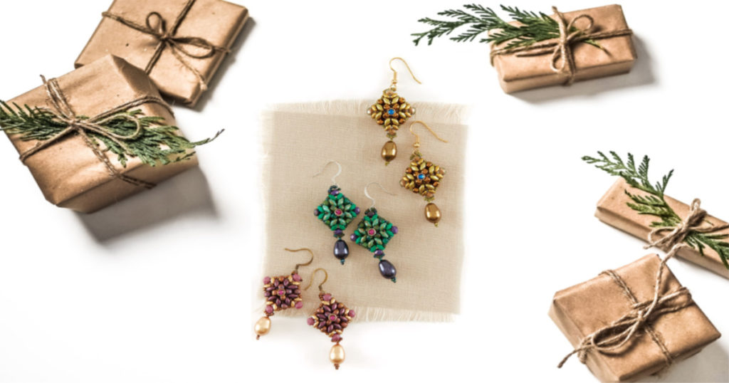 quick easy beaded jewelry gifts Two in One Earrings Agnieszka Watts