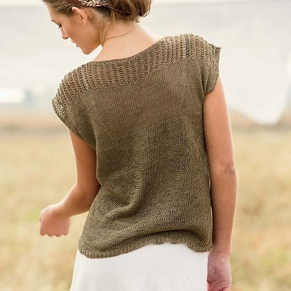 Back view of Linum Tee by Bristol Ivy