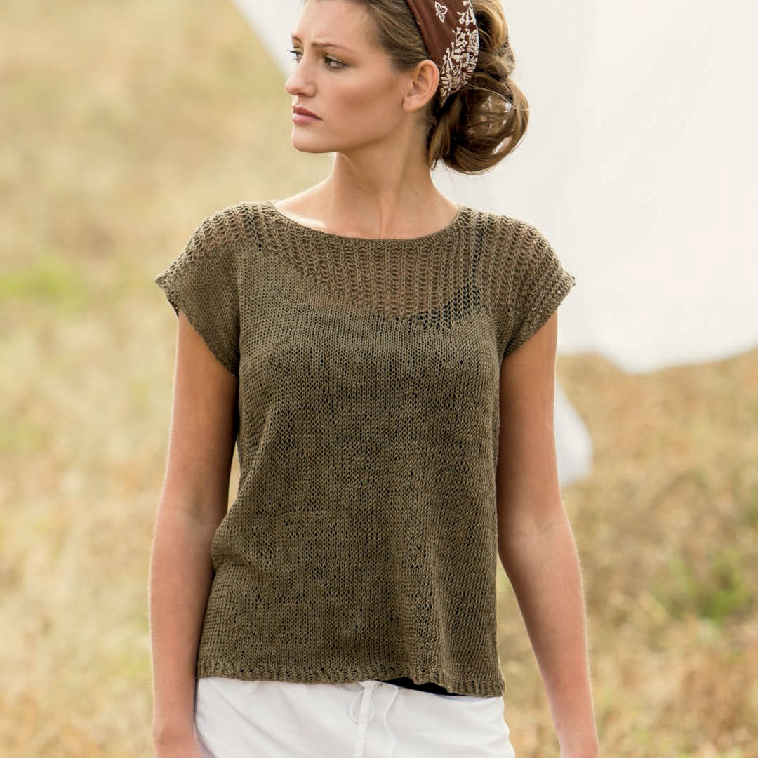 Full view of Linum Tee by Bristol Ivy