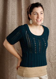 Knitting Gallery - Little Blue Sweater Stefanie