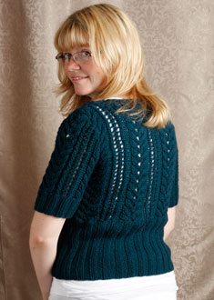 Knitting Gallery - Little Blue Sweater Toni